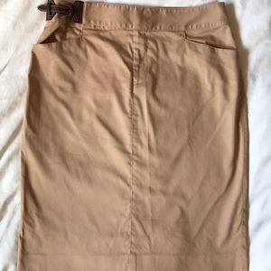 Lauren Ralph Lauren stretch cotton straight skirt